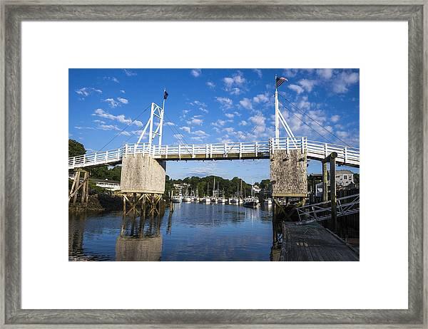 Perkins Cove - Maine Framed Print