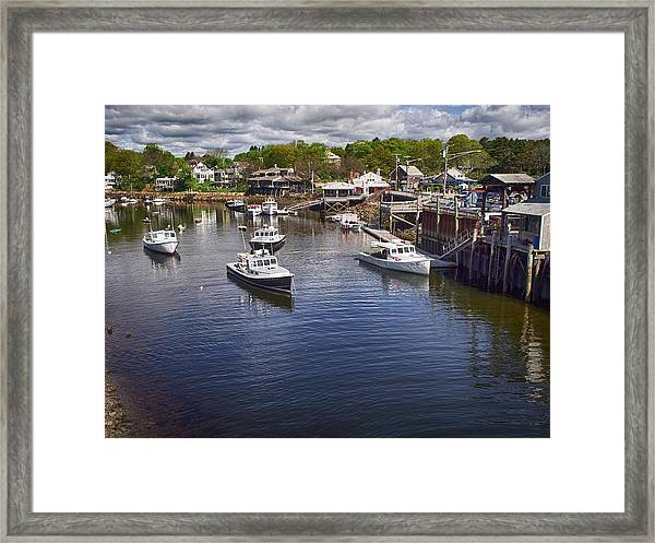Perkins Cove Framed Print