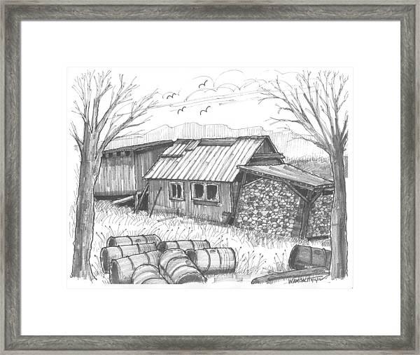 Perkins Maple Sugar House Framed Print