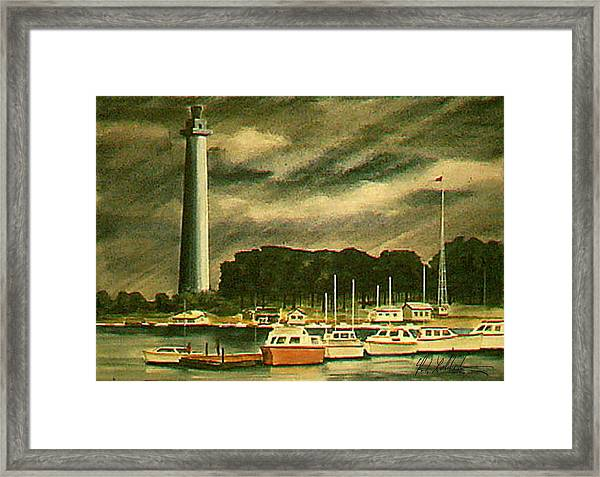 Perrys Monument On Put In Bay Framed Print