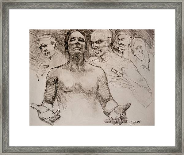 Persecution Sketch Framed Print