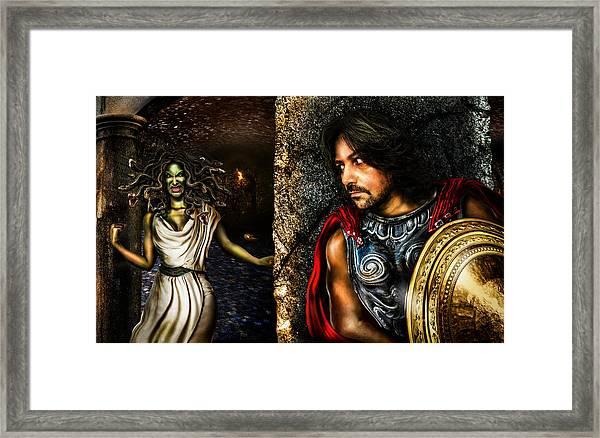 Perseus And Medusa Framed Print