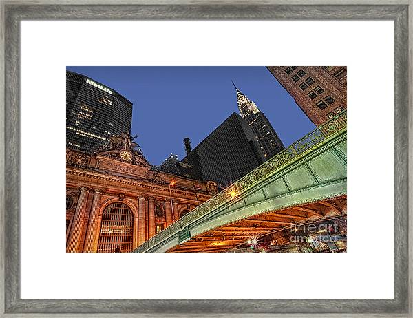 Framed Print featuring the photograph Pershing Square by Susan Candelario