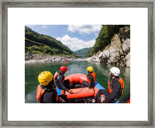 Personal Point Of View Of A White Water River Rafting Excursion Framed Print by Tdub303