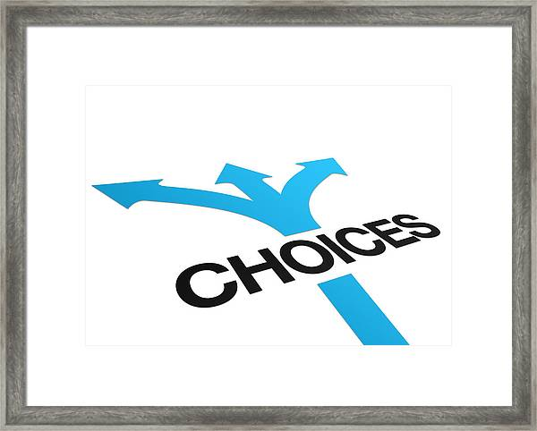 Perspective Choices Sign Framed Print