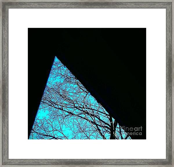Blue Triangle Framed Print