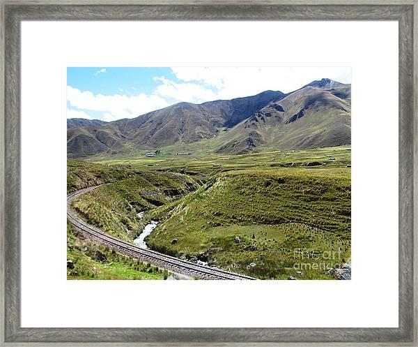 Peru Mountain Pass Rail Road Framed Print