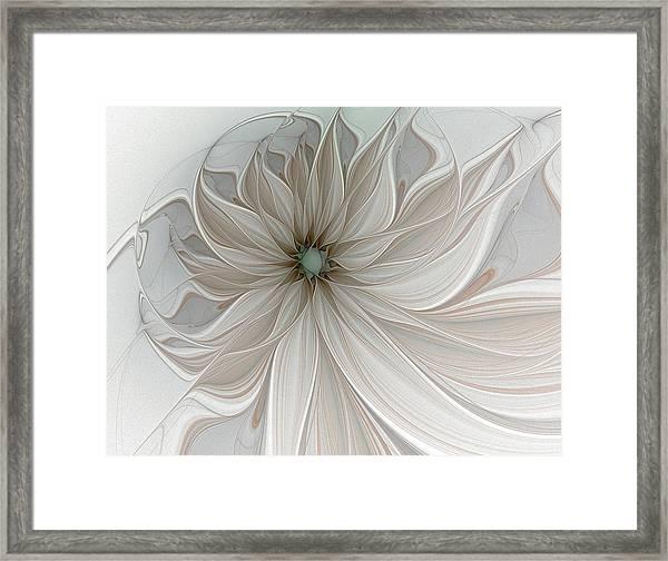 Petal Soft White Framed Print