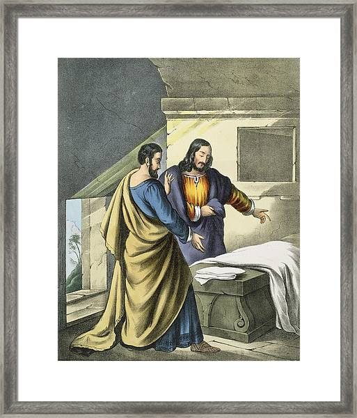 Peter And John At The Sepulchre Framed Print