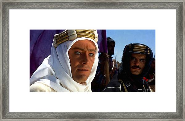 Peter Otoole And Omar Sharif In Lawrence Of Arabia Framed Print