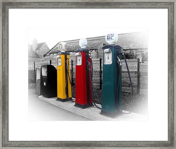 Petrol Station Framed Print