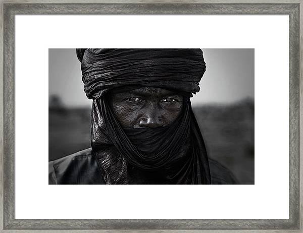 Peul Man In The Gerewol Festival - Niger Framed Print