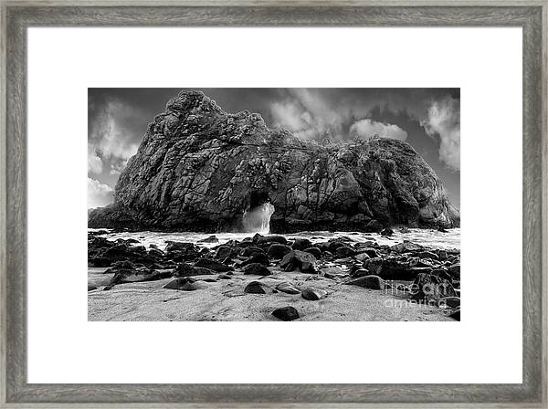 Pfeiffer Arch Monochrome Framed Print