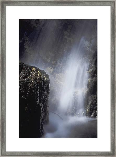 Pfeiffer Falls Closeup Framed Print