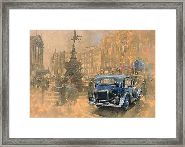Phantom In Piccadilly Oil On Canvas Framed Print