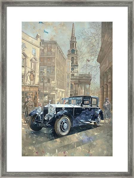 Phantom Near Trafalgar Square  Framed Print