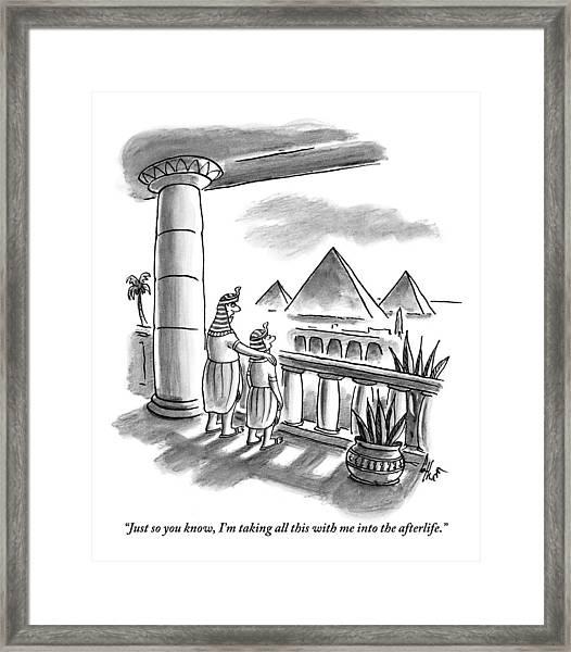 Pharaoh To Son Framed Print