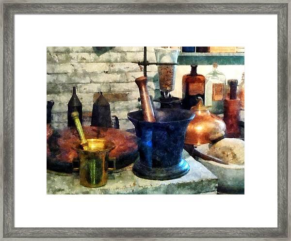 Pharmacist - Three Mortar And Pestles Framed Print