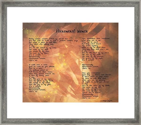 Phenomenal Woman -golden Stars Framed Print