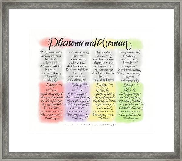 Phenomenal Woman Framed Print
