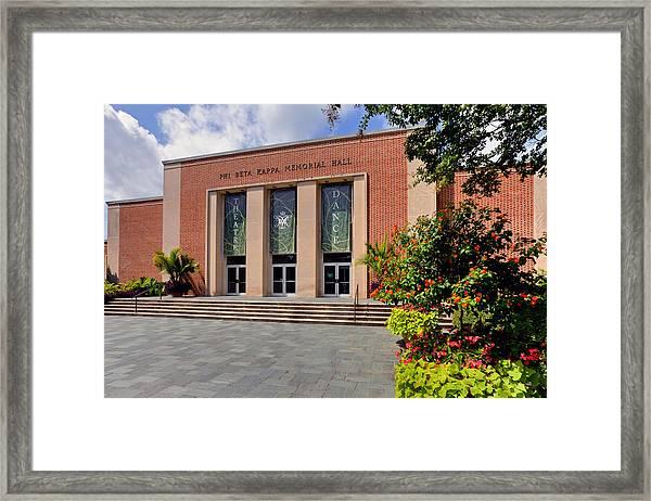 Phi Beta Kappa Hall Framed Print