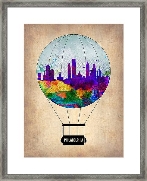 Philadelphia Air Balloon Framed Print