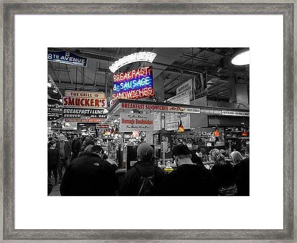 Philadelphia - Breakfast At Smucker's Framed Print