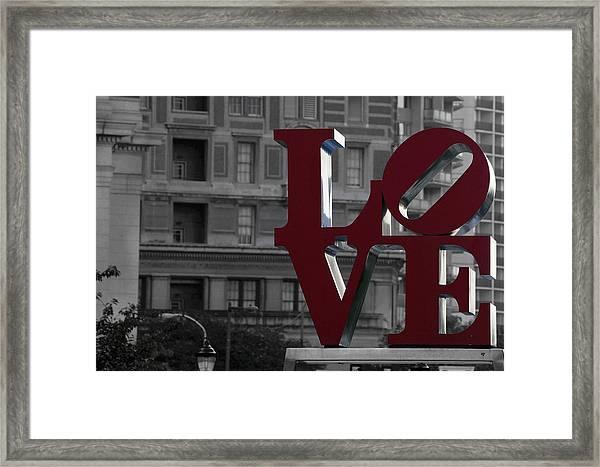 Philadelphia Love Framed Print