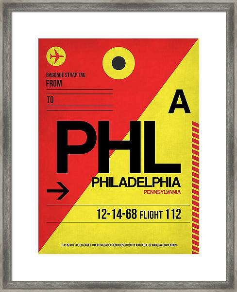 Philadelphia Luggage Poster 2 Framed Print