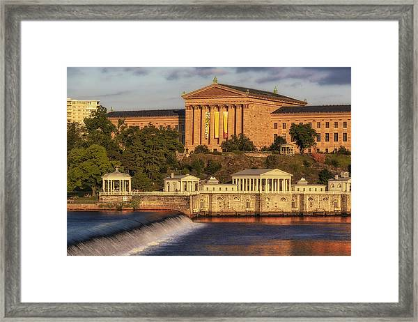 Framed Print featuring the photograph Philadelphia Museum Of Art by Susan Candelario