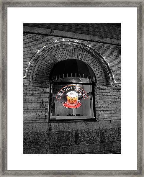 Philadelphia -old City Coffee Framed Print