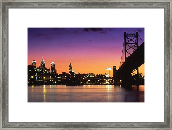 Philadelphia Skyline Framed Print by Retro Images Archive