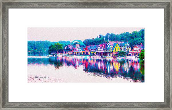 Philadelphia's Boathouse Row On The Schuylkill River Framed Print
