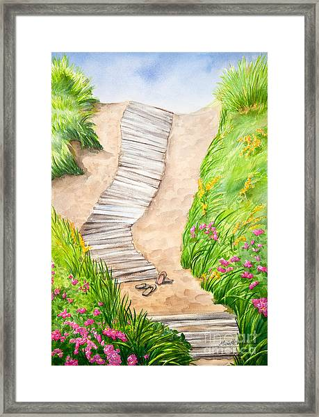 Philbin Beach Path Framed Print