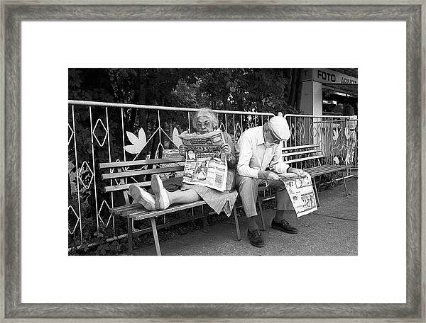 Philemon And Baucis (from The Series boy Meets Girl) Framed Print
