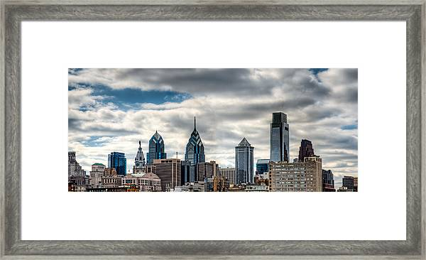 Philly From The East Framed Print