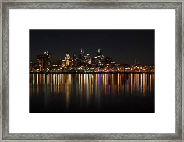 Philly Night Framed Print
