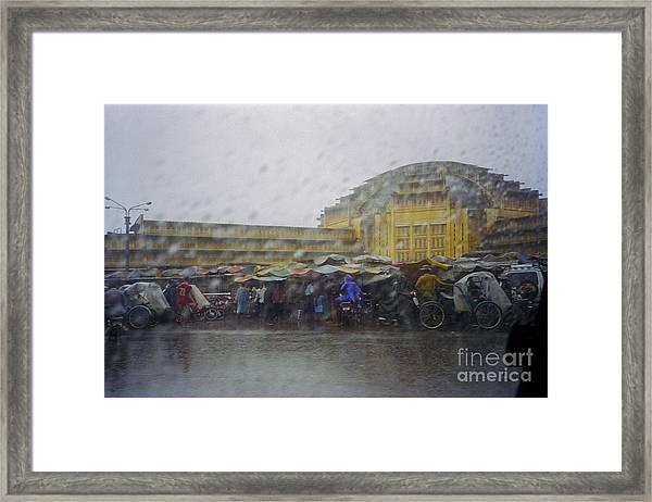 Phnom Penh Central Market Framed Print