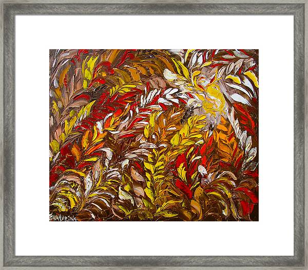 Phoenix Flower Painting Framed Print