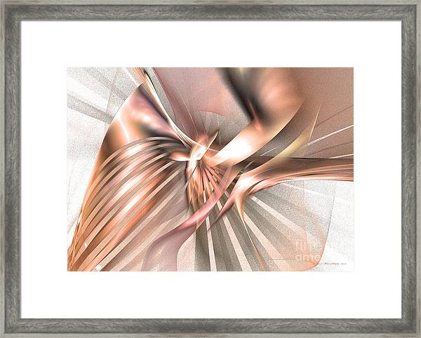 Phoenix Of The Future - Abstract Art Framed Print