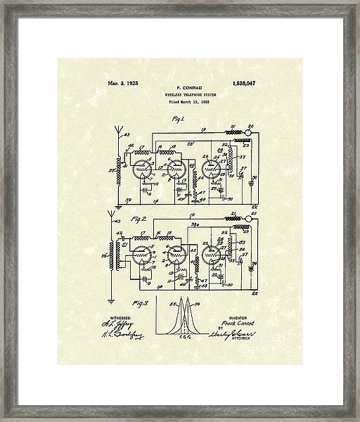 Phone System 1925 Framed Print