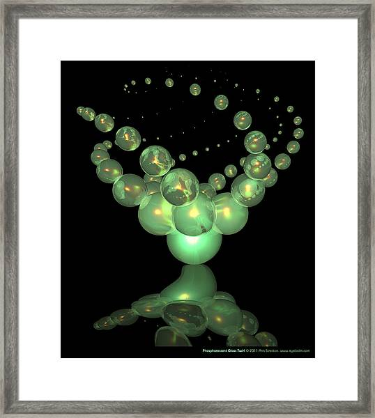 Phosphorescent Glass Twirl  Framed Print