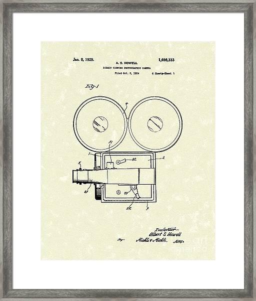 Photographic Camera 1929 Patent Art Framed Print
