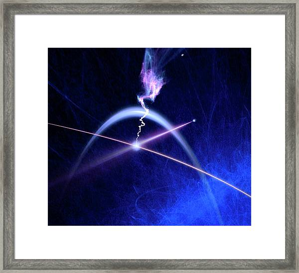 Photon Interacting With Electron Framed Print by Richard Kail