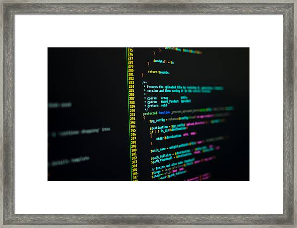 Php Code Framed Print by Scott-Cartwright