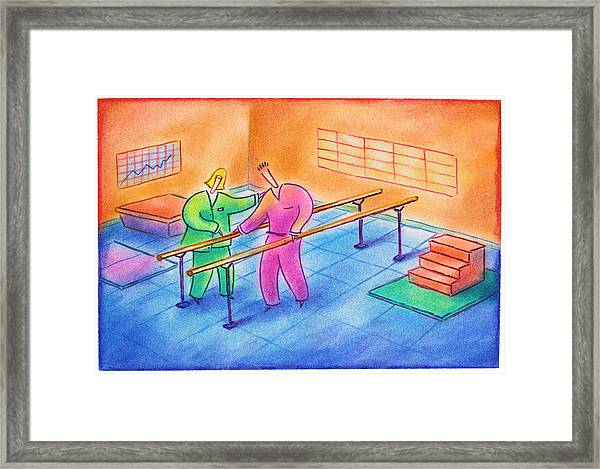 Physical Therapy Patient Framed Print by Craig Smallish
