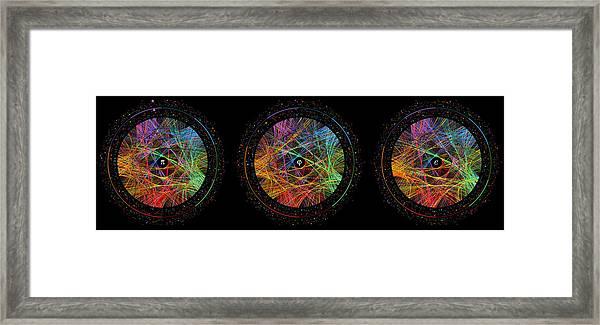 Pi Phi And E Transition Paths Framed Print by Martin Krzywinski