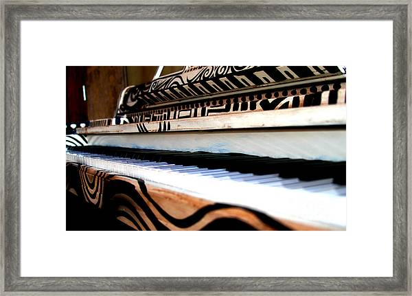 Piano In The Dark - Music By Diana Sainz Framed Print