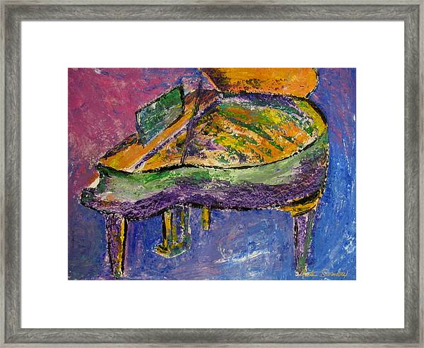Piano Purple Framed Print