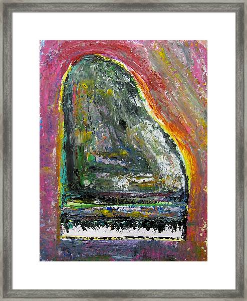 Piano Red Framed Print